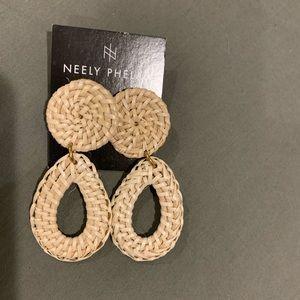 Brand new Neely Phelen rattan teardrop earrings!